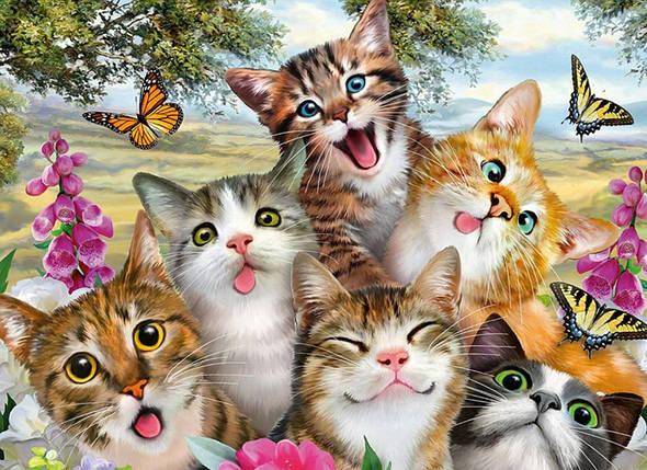 TN907 Набор алмазной мозаики на подрамнике Добрые котята, фото 2