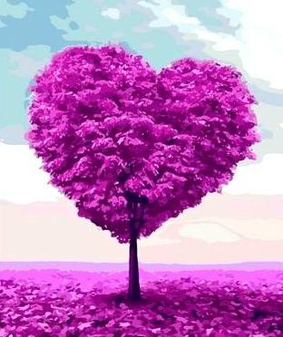 TN961 Набор алмазной мозаики на подрамнике Дерево любви