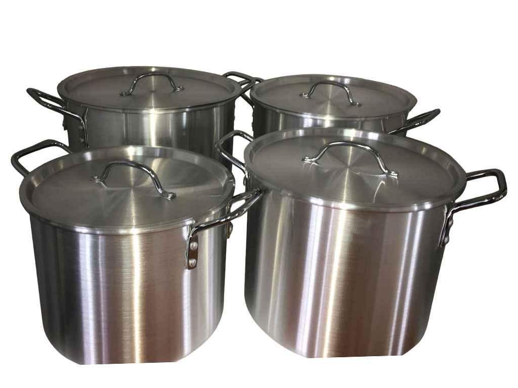 Набор алюминиевых кастрюлей Interos 4 предмета 7,5л/11,5л/15л/19л (FH-A820-4)