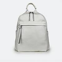 Модный рюкзак  женский кожаный белый 3062 большой