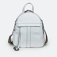 Міський сумка-рюкзак жіночий шкіряний білий 801-247 маленький, фото 1