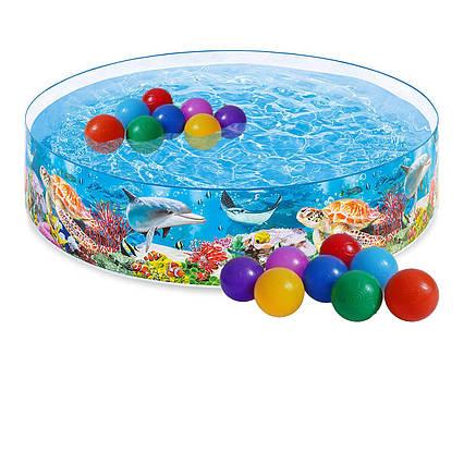 Басейн дитячий надувний Intex 58472-1 «Океанський риф», 244 х 46 см, з кульками 10 шт