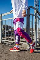 Cпортивные штаны Пушка Огонь Split фиолетово-розовые