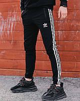 Спортивные штаны в стиле Adidas Thre line черные.