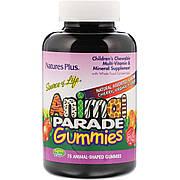 Детский мультивитаминный комплекс Animal Parade со вкусом вишни, апельсина и винограда, Nature's Plus, 75