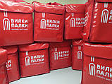 Рюкзак для доставки еды, пиццы, суши. Сумка для доставки еды, суши, пиццы. Термосумка для еды, терморюкзак ПВХ, фото 9