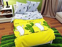 Семейный набор хлопкового постельного белья из Бязи Gold 157263AB Черешенка BC4G157263AB, КОД: 1891486