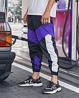 Cпортивные штаны Пушка Огонь Split чб и фиолет