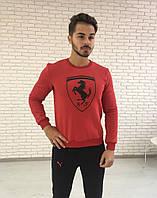 Мужская толстовка с начесом Puma красная