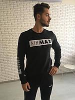 Мужская толстовка с начесом Nike черная
