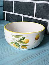 Пиала керамическая 600мл Сочные лимоны