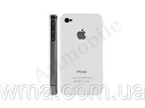 Чехол накладка iPhone 4 Crystal case (white)