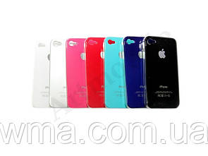 Чехол накладка iPhone 4 Crystal case clear (black)