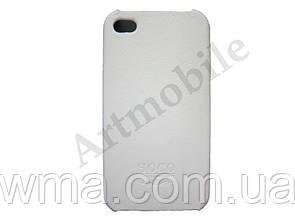 Чехол накладка на iPhone 4/4S, HOCO Open Face Case, белый