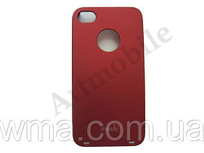Чехол накладка на iPhone 4/4S, Moshi Hard Case, красный