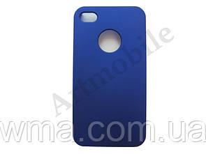 Чехол накладка на iPhone 4/4S, Moshi Hard Case, синий