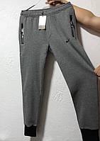 Мужские спортивные штаны Nike серые на флисе