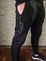 Мужские спортивные штаны на флисе Nike черные