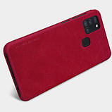 Кожаный чехол-книжка Nillkin Qin Series для Samsung Galaxy A21s, фото 4