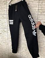 Мужские спортивные штаны на флисе Adidas черные