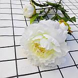 Ветка пиона  3-ка белый  83 см., фото 2