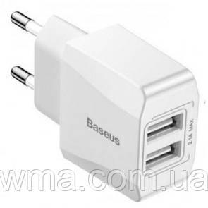 Зарядное устройство Baseus 2 USB Charger Mini Dual-U 2.1A White (CCALL-MN02)