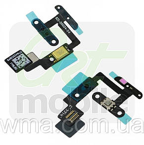 Шлейф для iPad Air 2 (A1566/A1567), с кнопкой включения, с датчиком приближения, с микрофоном