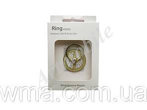 Кольцо-подставка Ring Holder Peace, золотистая, со стразами