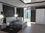 Ліжко Німан Соломія + 4 ящики 180x200 скол дуба білий, фото 3