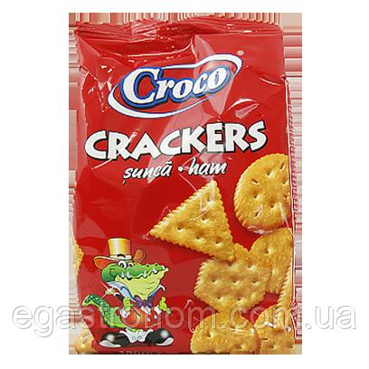 Крекер Кроко з шинкою Croco 100g 12шт/ящ (Код : 00-00006046)
