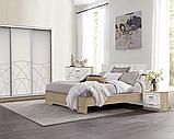 Ліжко Німан Міа + 4 ящики 180x200 білий супер мат + дуб сонома, фото 2
