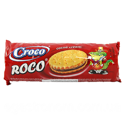 Печиво з шоколадним кремом Кроко Croco 150g 23шт/ящ (Код : 00-00006049)