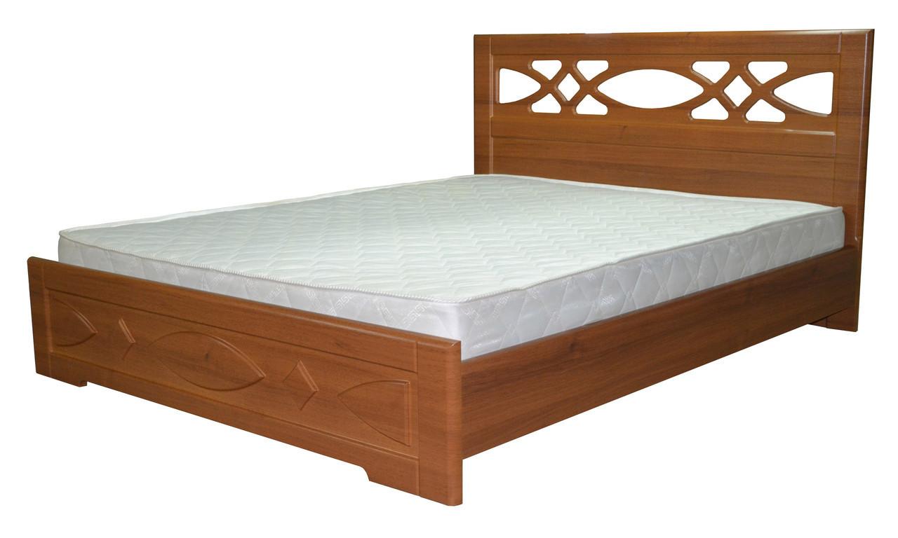 Кровать Неман Лиана + 4 ящика 180x200 орех светлый