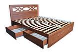 Кровать Неман Лиана + 4 ящика 180x200 орех светлый, фото 3