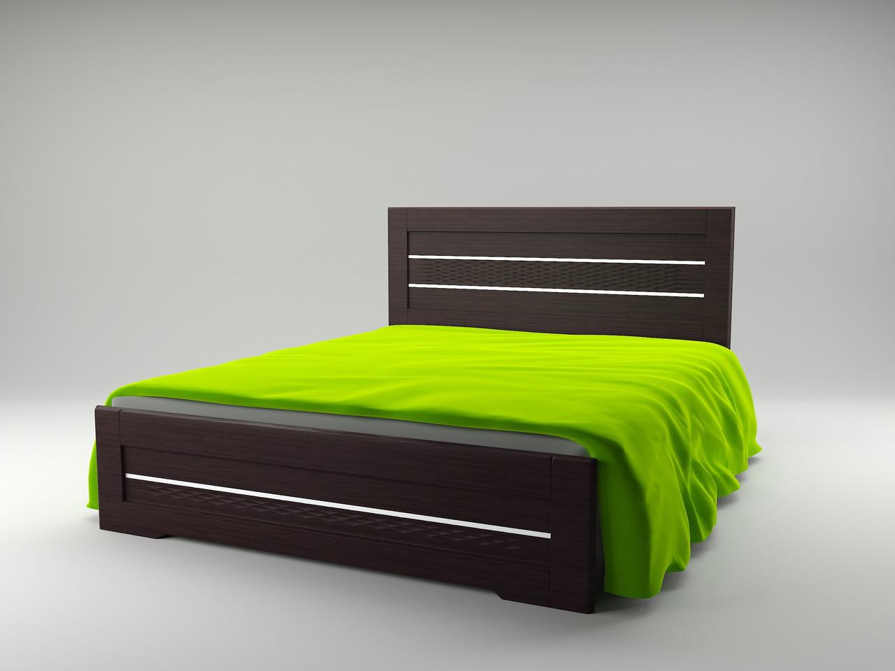 Ліжко Німан Соломія + 4 ящики 140x200 венге південний