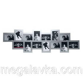 Фоторамка Collage 14, сіра