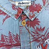Песочник с кор рук,на кнопках Синий Джинс 0231 Турция 68(р), фото 2