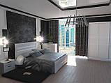 Кровать Неман Соломия + 4 ящика 160x200 скол дуба белый, фото 3