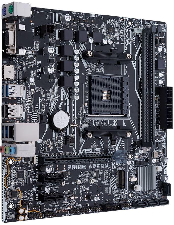 Материнська плата Asus Prime A320M-K (sAM4, AMD A320, PCI-Ex16)