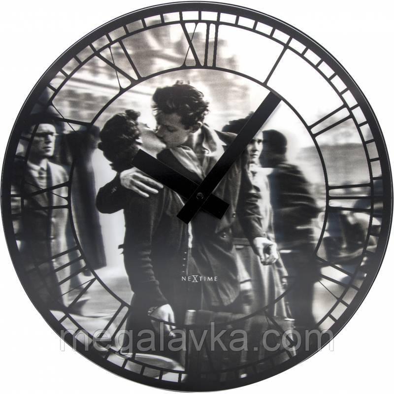 """Часы настенные 3D """"Kiss me in Paris"""" ?39 см"""