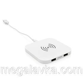 Бездротова Зарядка з 2 портами USB біла 5W