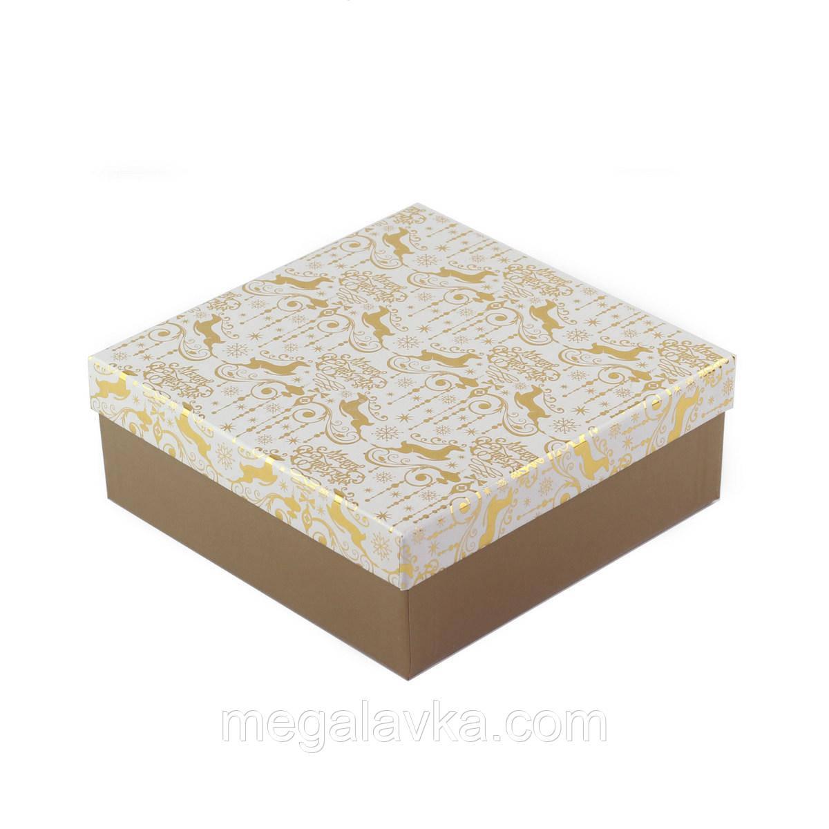 Коробка подарочная Gold 18 х 18 х 8 см