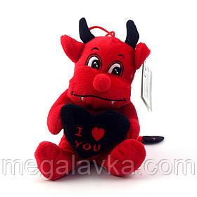 Игрушка Devil with black heart плюшевая