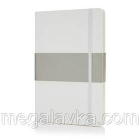 Блокнот у твердій обкладинці формату A5 білий