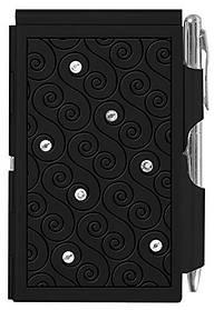 Кишеньковий блокнот з ручкою Glitz Black