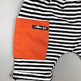 Комплект 2в1,футболка+шорты Оранжевый Интерлок 0238 Murat baby Турция 86(р), фото 4