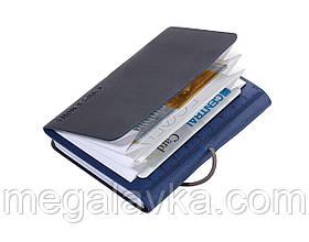 """Візитниця і блокнот """"DIN A7"""" синьо-чорний"""