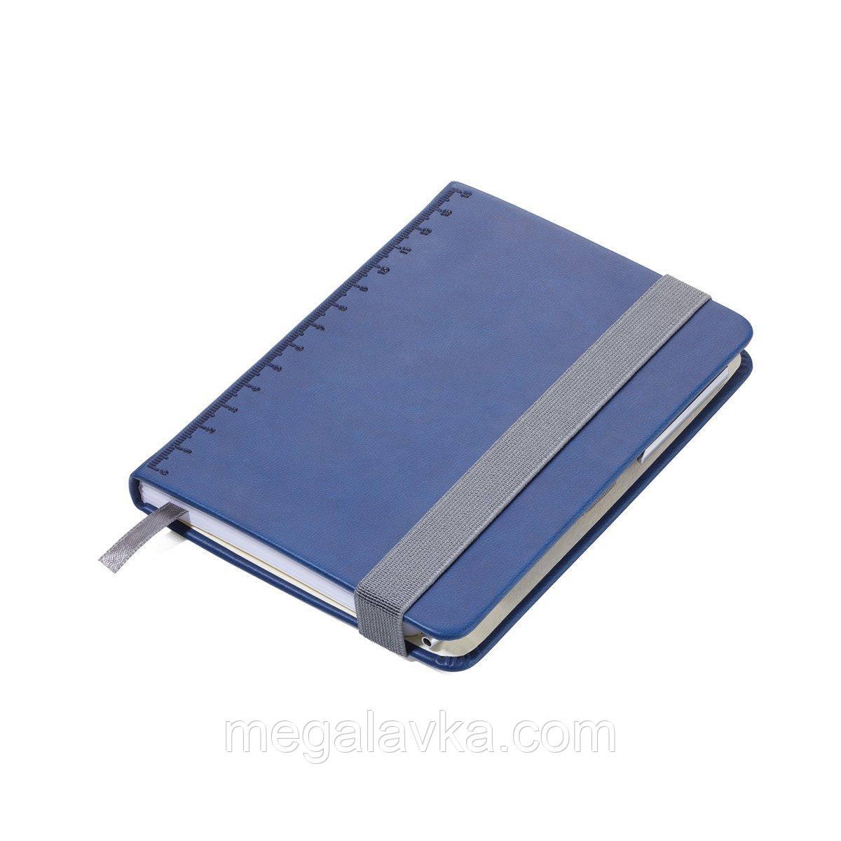 Блокнот з кульковою ручкою Troika Slim синій