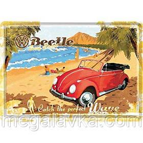 """Открытка """"VW Beetle-Ready for the Beach"""" Nostalgic Art (10205)"""