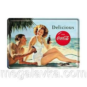 """Открытка """"Coca-Cola-Beach Couple"""" Nostalgic Art (10266)"""